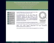 Bild Webseite Schindler Marian Rechtsanwalt München