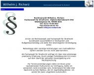 Rechtsanwalt und Fachanwalt f?r Strafrecht Wilhelm J. Richarz