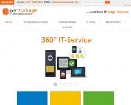 Bild Webseite NETZORANGE IT-Dienstleistungen Köln