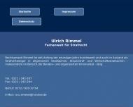 Bild Webseite Rimmel Ulrich Rechtsanwalt Köln