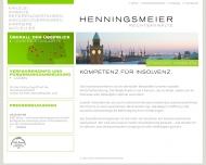 Bild Webseite HvS Henningsmeier - van Setten Steuerberatungsgesellschaft Hamburg