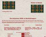 Bild Webseite Nickel Fritz Rechtsanwalt Köln