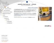 Bild Webseite Rechtsanwältin Michaela Leder Nürnberg
