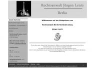 Bild Webseite Lentz Jürgen Rechtsanwalt Berlin