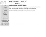 Bild Webseite Dr. Lanz & Kegel München