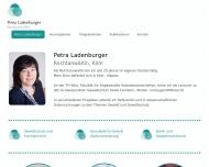 Bild Webseite Ladenburger Petra Rechtsanwältin Köln