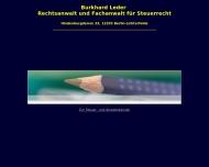Bild Webseite Leder Burkhard Rechtsanwalt und Fachanwalt für Steuerrecht Berlin