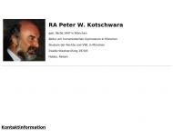 Bild Webseite Kotschwara Peter Rechtsanwalt München