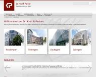 Bild Webseite Rechtsanwaltskanzlei Dr. Kroll & Partner Reutlingen