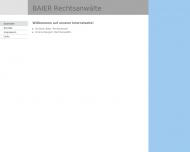 Bild Webseite Baier Christian Rechtsanwälte München