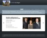 Bild Webseite Keller Dr. & Collegen Rechtsanwälte und Notare Dortmund