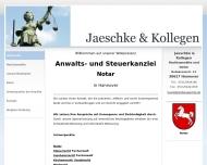 Bild Webseite Jaeschke & Kollegen Hannover