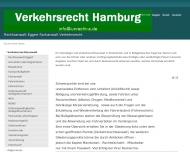 Bild Webseite Rechtsanwalt Eggert - Fachanwalt Verkehrsrecht Hamburg