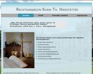 Website Hierstetter Karin Th. Rechtsanwältin