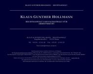 Bild Hollmann Klaus Gunther Fachanwalt für Arbeitsrecht