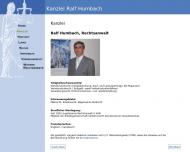 Website Humbach R. Rechtsanwalt