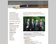 Bild Webseite Haupthoff , Herden Rechtsanwälte Hamburg