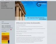Bild Webseite Grimm & Kollegen Peter Grimm, Dr. Karl von Lutterotti, Iris-Maria Jandel Rechtsanwälte München