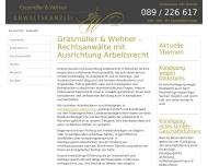 Bild Webseite Grasmüller & Wehner München