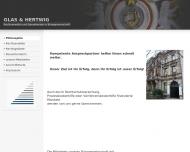 Bild Webseite Glas, Hertwig und Glas Rechtsanwälte u. Steuerberater Nürnberg