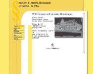 Website Gehrke R. , Vihar G. Notar und Rechtsanwälte