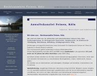 Bild Webseite Feinen Michael Rechtsanwalt Köln