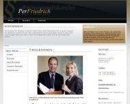 Bild Webseite Friedrich Per Rechtsanwalt Berlin