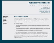 Bild Webseite Feuerlein Albrecht Berlin