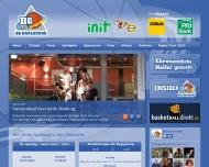 Bild Webseite BG Karlsruhe Basketball Karlsruhe