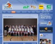 Website BG Karlsruhe Basketball