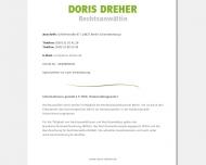 Bild Webseite Dreher Doris Rechtsanwältin Berlin