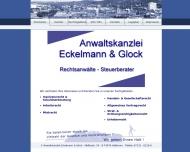 Bild Webseite Eckelmann & Glock Anwaltskanzlei Heilbronn