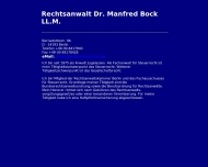 Bild Webseite Bock Manfred Dr. Rechtsanwalt Berlin