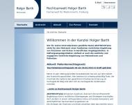 Bild Webseite Rechtsanwalt Holger Barth Freiburg im Breisgau