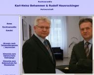 Bild Webseite Behammer Karl-Heinz , Hausruckinger Rudolf, Nowak Marina Passau