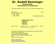 Bild Webseite Benninger Rudolf Dr. Rechtsanwalt Frankfurt