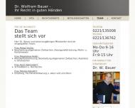 Website Bauer Wolfram Dr. Rechtsanwalt