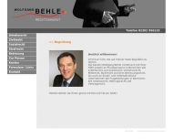 Website Rechtsanwalt Wolfgang Behle