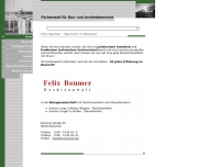 Bild Webseite Felix Baumer München