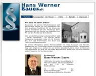 Bild Webseite Rechtsanwalt Hans Werner Bauer München