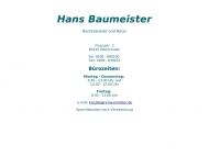 Bild Rechtsanwalt Baumeister Hans