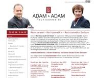 Bild Webseite Rechtsanwalt Ralf Adam Bochum