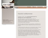 Bild Webseite Bäger Beate , Pohl Alexandra Rechtsanwältinnen Köln