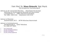 Bild Heinerth Klaus Prof. Dr. Psychotherapie