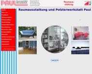 Website Raumausstattung Paul