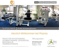 Bild Webseite Physios Krankengymnastik , Inh. Barbara von Winterfeld Reutlingen