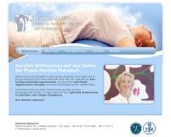 Bild Webseite Mansouri Martine Physiotherapie Aachen