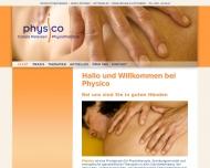 Bild Webseite Petersen C. Physico Krankengymnastik Köln