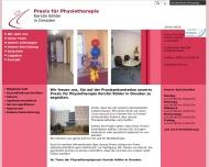 Bild Webseite Köhler Kerstin Praxis für Physiotherapie Dresden