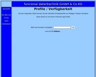 Website funcional Verwaltung